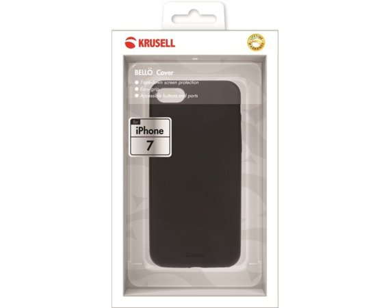 Krusell Etui Apple iPhone 7 BELLO Cover Czarny