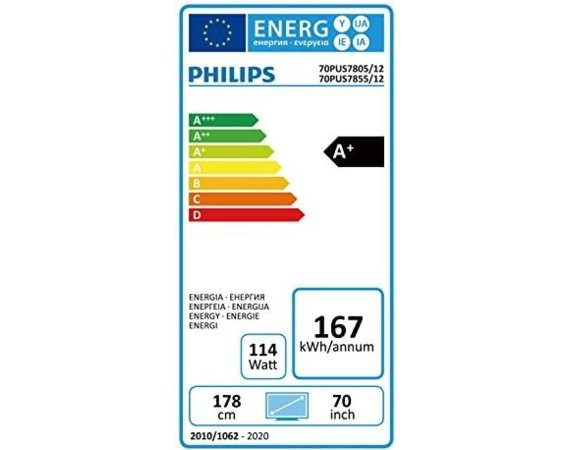 Philips Telewizor 70 cali LED 70PUS7805/12 SMART AMBILIGHT