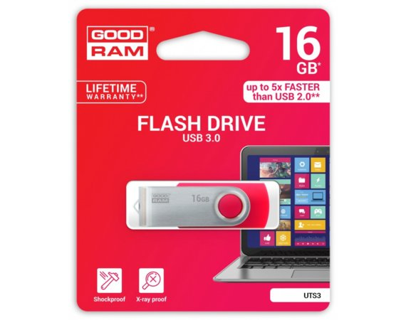 GOODRAM TWISTER RED 16GB USB3.0