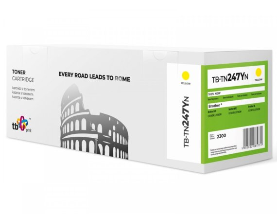 TB Print Toner do Brother TN247Y TB-TN247YN YE 100% nowy