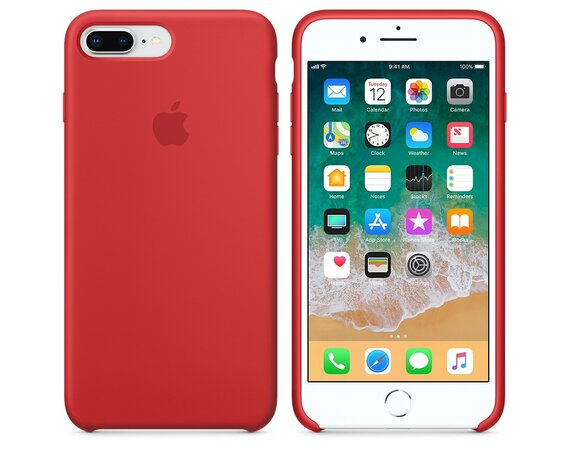 Apple iPhone 8 Plus / 7 Plus Silicone Case - (PRODUCT)RED