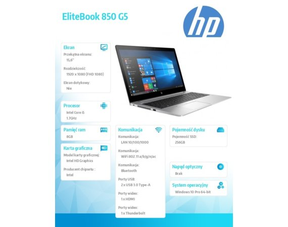 HP Inc. EliteBook 850 G5 4BC92EA