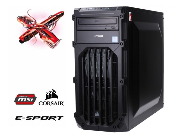 OPTIMUS E-Sport MB250T-CR23 i5-7400/8GB/1TB/RX570 ARMOR 8G OC