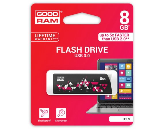 GOODRAM CL!CK   8GB USB 3.0 Black