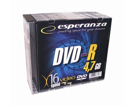 Esperanza DVD-R 4,7GB x16 - Slim 10