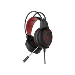 HAVIT GAMENOTE H2239d Słuchawki + mikrofon gaming audio jack 3,5mm+USB, LED, 20 Hz-20 kHz