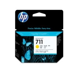 HP Inc. Tusz 711 29ml Yellow 3-Pack CZ136A
