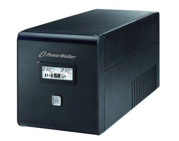 PowerWalker UPS LINE-INTERACTIVE 1000VA 2X SCHUKO + 2XIEC OUT,  RJ11/RJ45 IN/OUT, USB, LCD