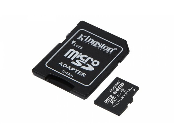 Kingston microSD 64GB CL10 UHS-I 90/45MB/s Industrial