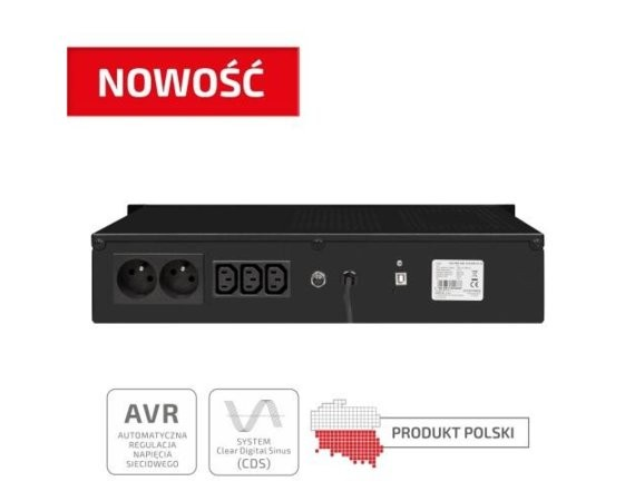 "EVER UPS  ECO Pro 1000 AVR CDS 19"" 2U"