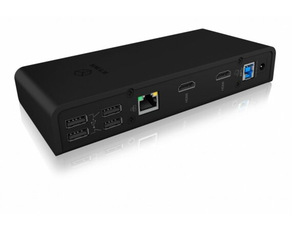 IcyBox Stacja dokująca IB-DK2251AC do Notebooka DisplayLink, 2 x HDMI