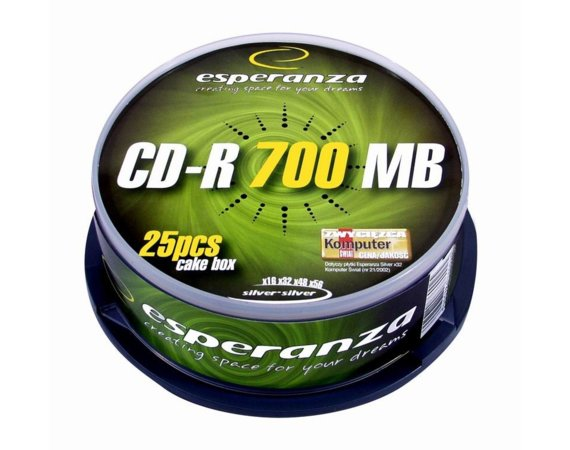Esperanza CD-R Silver 700MB x56 - Cake Box 25
