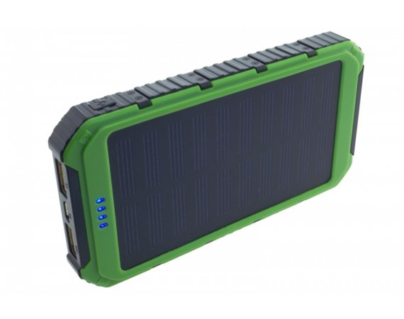 SUNEN Power bank 6000mAh z PV 0.8W PowerNeed zielony