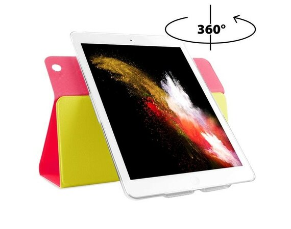 PURO Bi-Color 360° Booklet Case - Etui iPad Air (żółty/różowy)