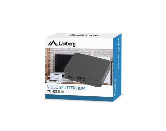 LANBERG Splitter video 2xHDMI 4K Port micro USB Czarny