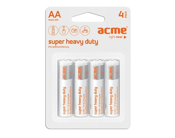 ACME Europe Baterie AA R6P Super Heavy Duty (4 sztuki)