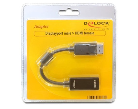 Delock Adapter Displayport(M)->HDMI-I(F)(24+5) 20cm