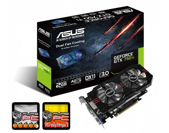 Asus GeForce CUDA GTX750Ti 2GB DDR5 128BIT 2DVI/HDMI/DSub BOX