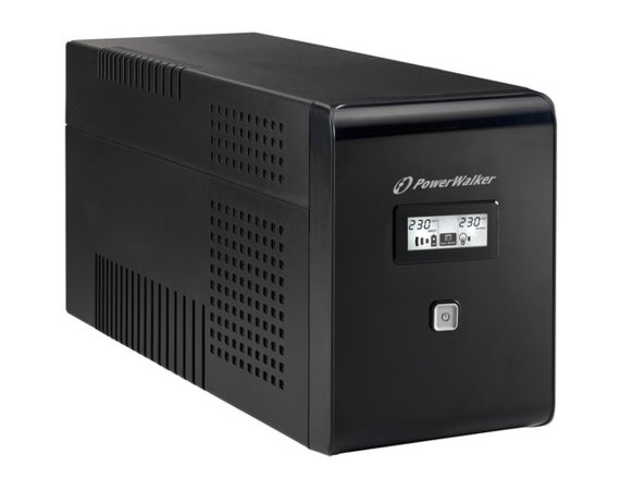 PowerWalker UPS LINE-INTERACTIVE 1500VA 2X SCHUKO + 2XIEC OUT,  RJ11/RJ45 IN/OUT, USB, LCD