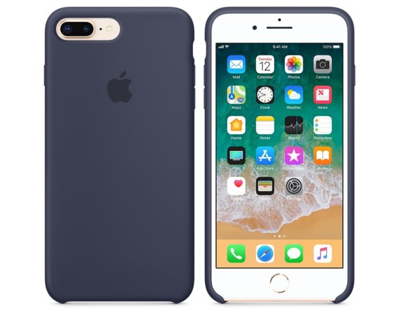 Apple Etui iPhone 8 Plus / 7 Plus Silicone Case - Midnight Blue