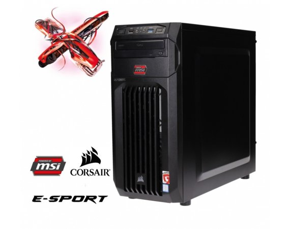 OPTIMUS E-sport MH110T-CR10 i3-7100/8GB/1TB/GTX1050 2GB RED LED