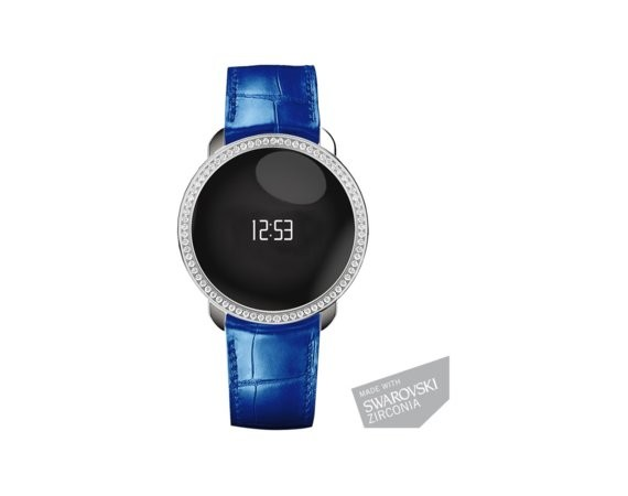 MyKronoz Activity Tracker ZeCircle Silver Blue Swarovski