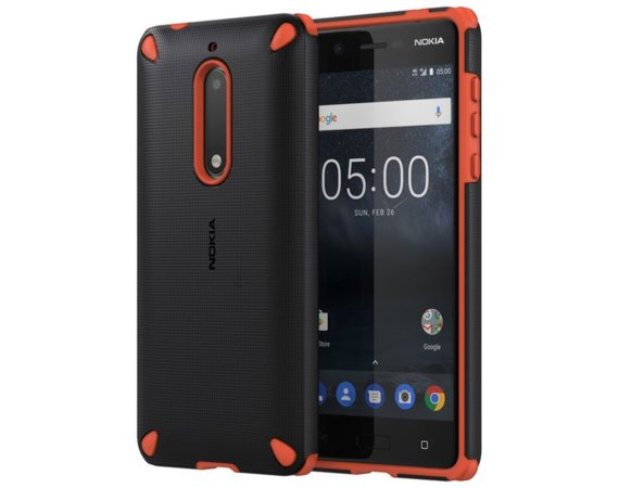 Nokia CC-502 Etui Nokia 5 Orange Black