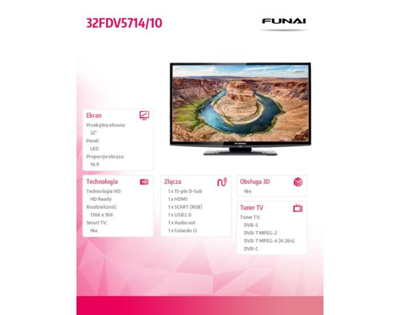 Funai 32'' LED             32FDV5714/10