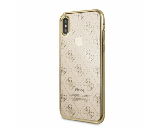GUESS GUHCPXTR4GG hardcase iPhone X złoty 4G Transparent