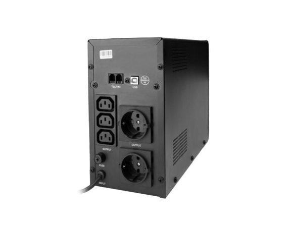 Gembird UPS LINE-INTERACTIVE 1500VA 3X IEC, 2X SCHUKO 230V, USB, RJ11 IN/OUT, LCD