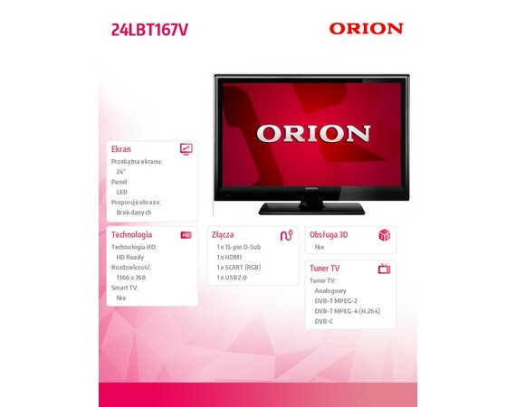 Orion 24'' LED                24LBT167V