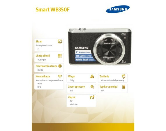 Samsung Smart WB350F black