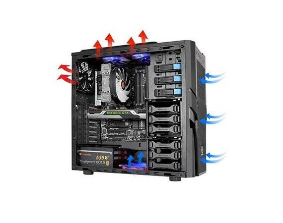 Thermaltake Commander G41 USB3.0 (120mm), czarna