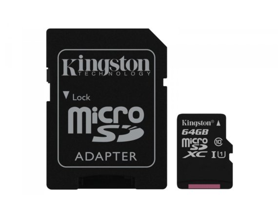 Kingston microSD 64GB Class 10 Gen2 1-adapter