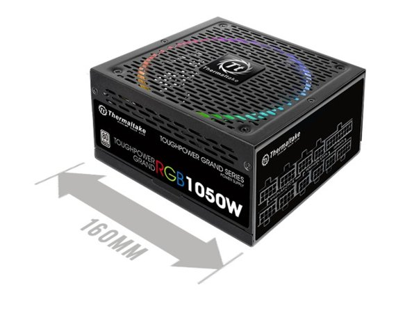 Thermaltake Toughpower Grand Riing 1050W Platinum 230V, 8xPEG, 14 cm