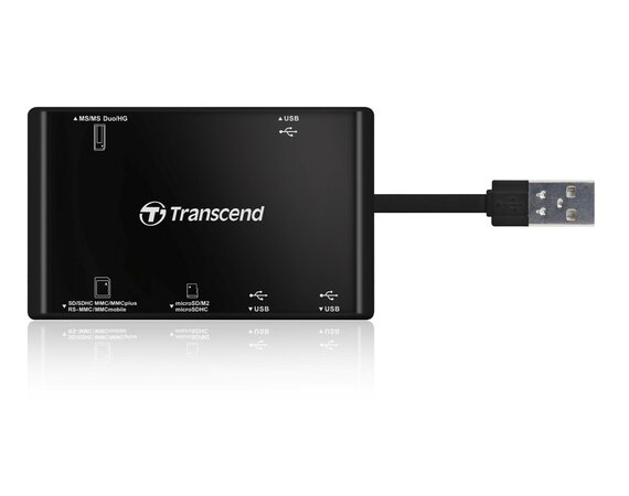 Transcend Multi Card Reader P7 + USB Hub Black