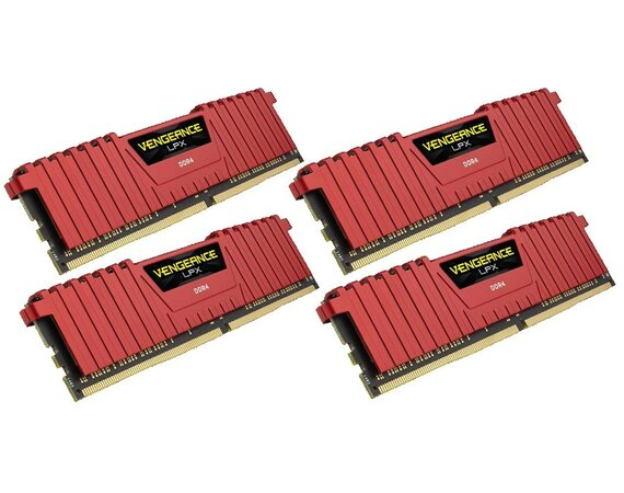 Corsair DDR4 Vengeance LPX 16GB /2133 (4*4GB) RED  CL13-15-15-28