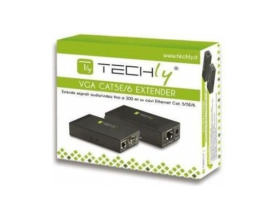 Techly Extender VGA po kablu Cat5e/6 do 300m z audio