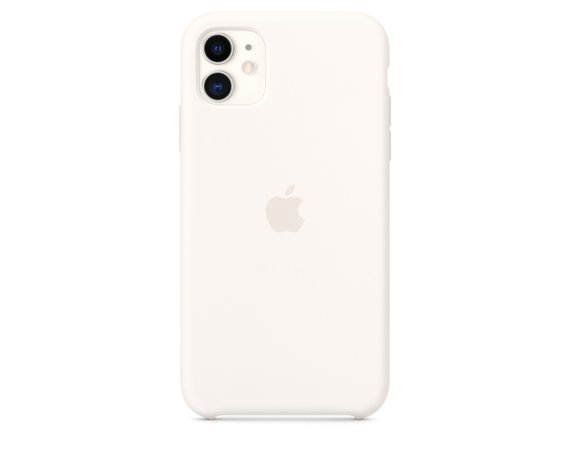 Apple Silikonowe etui do iPhone 11 - białe