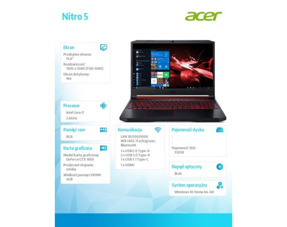 Acer Notebook Nitro 5 AN515-54-7881