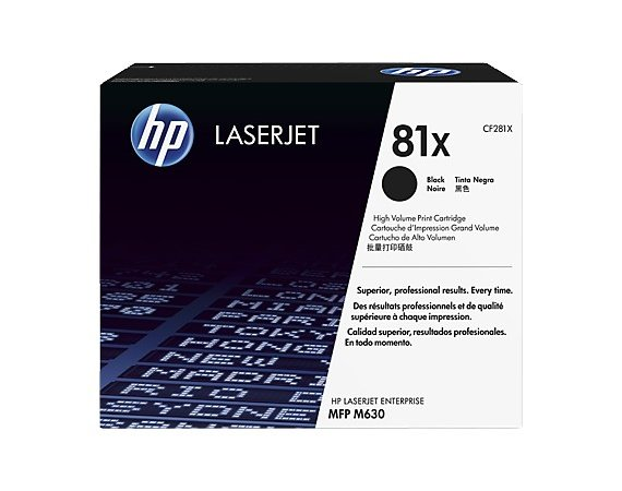 HP Inc. Toner 81X Black 25k CF281X