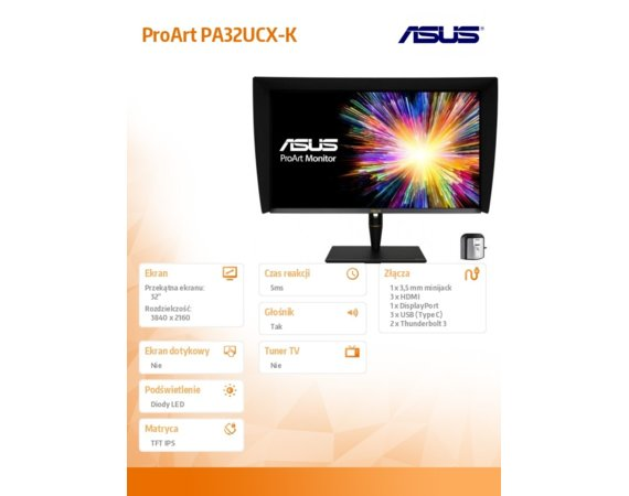 Asus Monitor 32 cale PA32UCX-K