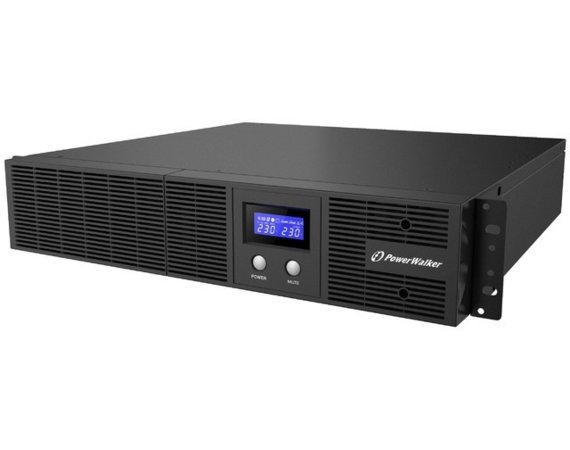 PowerWalker UPS Line-Interactive 3000VA Rack 19 8x IEC Out, RJ11/RJ45 In/Out, USB, LCD, EPO
