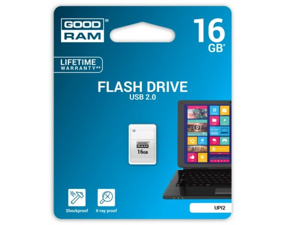 GOODRAM PICOLLO 16GB USB2.0 White