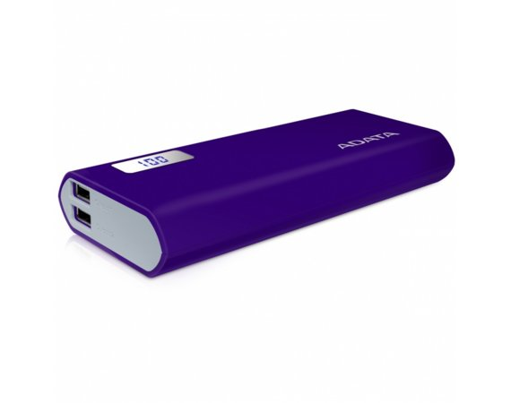 Adata Power Bank P12500D 12500mAh Purpurowy 2.1A