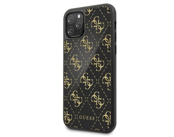 GUESS Etui hardcase GUHCN654GGPBK iPhone 11 Pro Max czarny 4G Double  Layer Glitter
