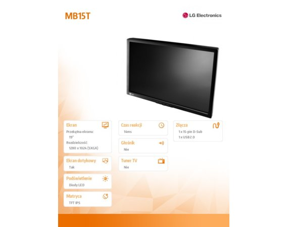 LG Electronics Monitor 19 MB15T-I   touch