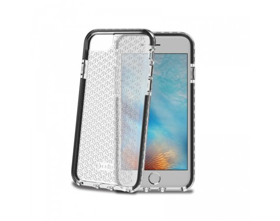 CELLY HEXAGON COVER IPHONE 7 STYL I ULTRA OCHRONA CZARNY