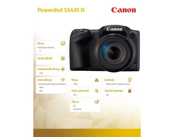 Canon Powershot SX430 IS 1790C002AA