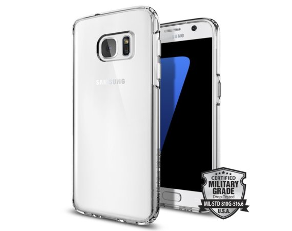 SPIGEN SGP  Liquid crystal clear etui Galaxy S7